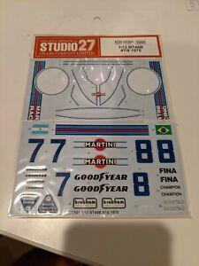 Studio 27 1/12 F1 BRABHAM BT44B decal for Tamiya n/Hiro modelers