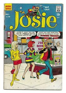 Josie #38 SILVER AGE ARCHIE SERIES COMIC BOOK pre Pussycats Li'l Jinx CIRCA 1968