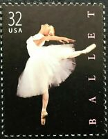 1998 Scott #3237 - 32¢ - AMERICAN BALLET - Single Mint NH