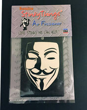 GUY FAWKES AIR FRESHENER * MIDNIGHT FREEZE vendetta anonymous car truck sticker