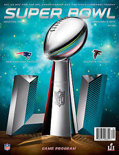 Super Bowl Li 51 NFL Game Day National Program Patriots Falcons Hou TX 20ct Case