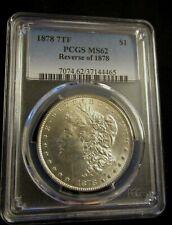 1878 Philadelphia Mint $1 Morgan Silver Dollar MS62