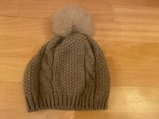 Really Wild Fox Fur Pom Pom Bobble Hat