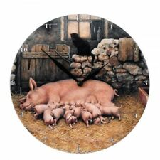 Border Fine Arts Studio - MOSES AND BERTHA PIG CLOCK A27184 New