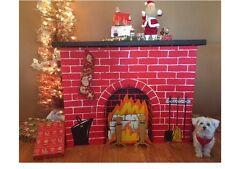 cardboard fireplace ebay. Black Bedroom Furniture Sets. Home Design Ideas