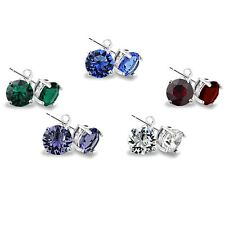 Set of 5 Multi Color Stud Earrings Made with Swarovski Crystals