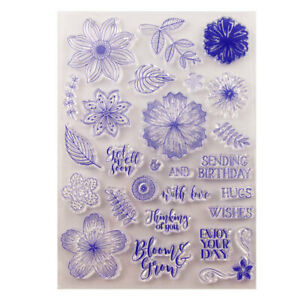 Flower Silicone Clear Rubber Stamps Seal Scrapbooking Embossing Album Decor DIY