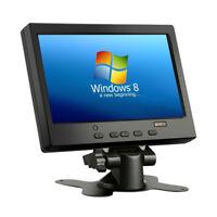 "7"" inch TFT LCD HDMI VGA AV Monitor HD Car Display 1024*600 for Raspberry PI 3B+"