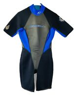 O'Neill Youth Reactor 2mm Back Zip Spring Wetsuit Blue Black Size 12