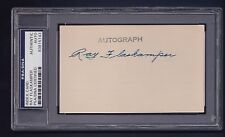 Ray Flaskamper signed baseball index card Psa/Dna authenticated & slabbed