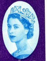 1962 Sg 632p (Phosphor) 3d NPY Scratch from Portait Across Queen's Face Flaw MM