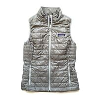 Patagonia Women's Nano Puff Vest Down Full Zip Feather Gray Extra Small XS