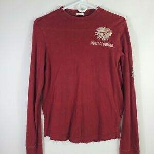 Abercrombie & Fitch Boys XL Long Sleeve Muscle Shirt Native Frayed