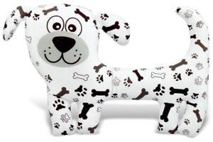 White Dog With Bones Soft Toy, 31CM  Christmas Gift, Soft Toy, Dog Soft toy