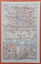 PEKING Mandschu Verbotene Stadt Himmelstempel Kaiser historischer Stadtplan 1906