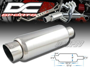 "DC SPORTS 3.5"" STAINLESS STEEL EXHAUST PERFORMANCE MUFFLER FOR TOYOTA LEXUS"