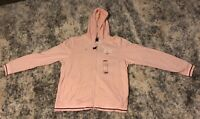 New With Tags Women's Nike Hooded Pink Fleece Zip Up Jacket Size XL