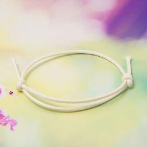 Adjustable White Wax Cotton Slide Cord Bracelet UK