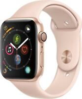 Apple Watch Series 4 44 mm Gold Aluminum Case with Pink Sand Sport Band (GPS)...