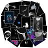 50 Weltraum Mond Moon Stickerbomb Aufkleber Sticker Mix Decals space Black White
