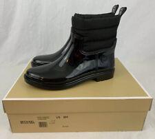 New Michael Kors Women's Blakely Rain Bootie Black Boots Size 8 NWB