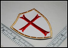 LEATHER patch CRUSADER Cross Order Shield Templar Knights CHRISTIAN ARMY Quality