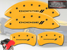 """2006-2010 """"Dodge //"""" Charger R/T Front Rear Yellow MGP Brake Disc Caliper Covers"""