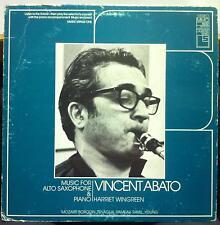 VINCENT ABATO music for alto saxophone & piano LP VG+ MMO 8022 Record w/Book '73
