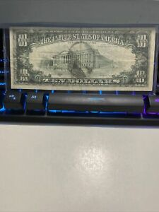 ERROR FULL FRONT TO BACK INK TRANSFER ERROR  1988-A $10 Fed Note , SUPER RARE!