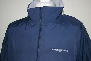 Henri Lloyd Navy Blue Mesh Lined Waterproof Jacket Size XL/XXL Breathable Top