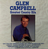 Glen Campbell - Greatest Country Hits (CD 1990 Curb) Rhinestone Cowboy VG++ 9/10