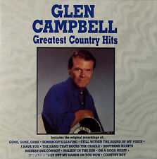 Glen Campbell - Greatest Country Hits (CD 1990 Curb) Rhinestone Cowboy VG++ 9/10