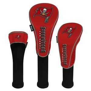 TAMPA BAY BUCCANEERS HIGH QUALITY NYLON GOLF HEAD COVER SET EMBROIDERED LOGO
