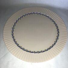 "Lenox Priscilla Round Chop Plate Platter 12 5/8"" Blue Flowers Pink Discontinued"