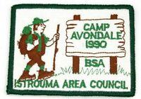 1990 Camp Avondale Istrouma Area Council Patch Boy Scouts BSA