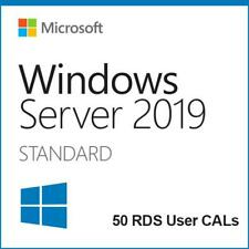 Microsoft Windows Server 2019 Standard 64bit + 50 User CALs