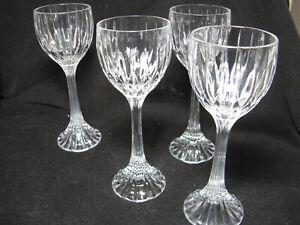 4 MIKASA Park Lane Wine Hocks Lead Crystal Wine Glasses
