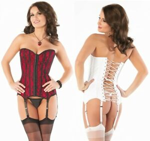 Coquette Lace Over Satin Boned Corset with Lace Up Back CQ-1057