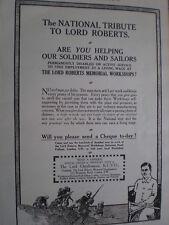 Lord Roberts Memorial Workshops disbalerd soldiers charity advert appeal 1917
