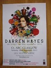 Darren Hayes - The Secret's Out Tour - Glasgow sept.2012 show concert gig poster