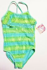 Ocean Pacific OP GIRLS Sherbet Mint Ombre One Piece Swimsuit X-Small 4-5 NEW
