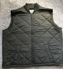 Men's Orvis Classic Fit Full Zip Quilted Vest 2XL Olive