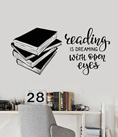Vinyl Wall Decal Books Quote Reading Room Library Book Shop Stickers (ig4847)