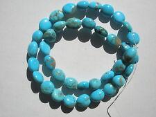 Genuine Kingman Blue Turquoise med nugget Beads - 9-10x10-12mm - strand