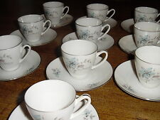 12 Royal Heiden Society China Czechoslovakia Demitasse Cup & Saucer Sets Fantasy