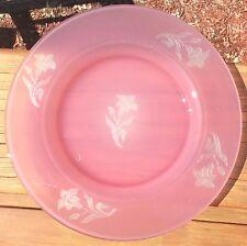 Steuben Art Glass Rosaline to Alabaster Acid Cut Back Plate
