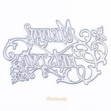 Merry Christmas Cutting Dies Stencil For DIY Scrapbooking Album Paper Card Craft