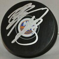 Mathew Barzal 2017-2020 New York Islanders Autographed NHL Hockey Puck COA