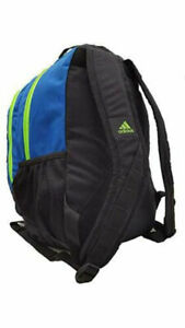 ADIDAS Journal Backpack Black / Blue / Solar Green LARGE CAPACITY PADDED - NEW