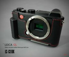 LIM'S Leather Camera Metal Grip Half Case Dovetail Plate for Leica CL Black